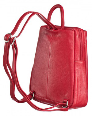 Красная женская сумка-рюкзак