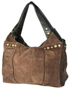 Замшевая женская сумка.